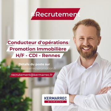 CONDUCTEUR D'OPERATIONS IMMOBILIERES H/F – CDI – RENNES